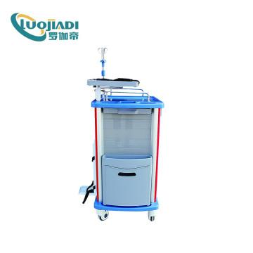 Chariot de traitement d'urgence pour équipement médical avec tiroir