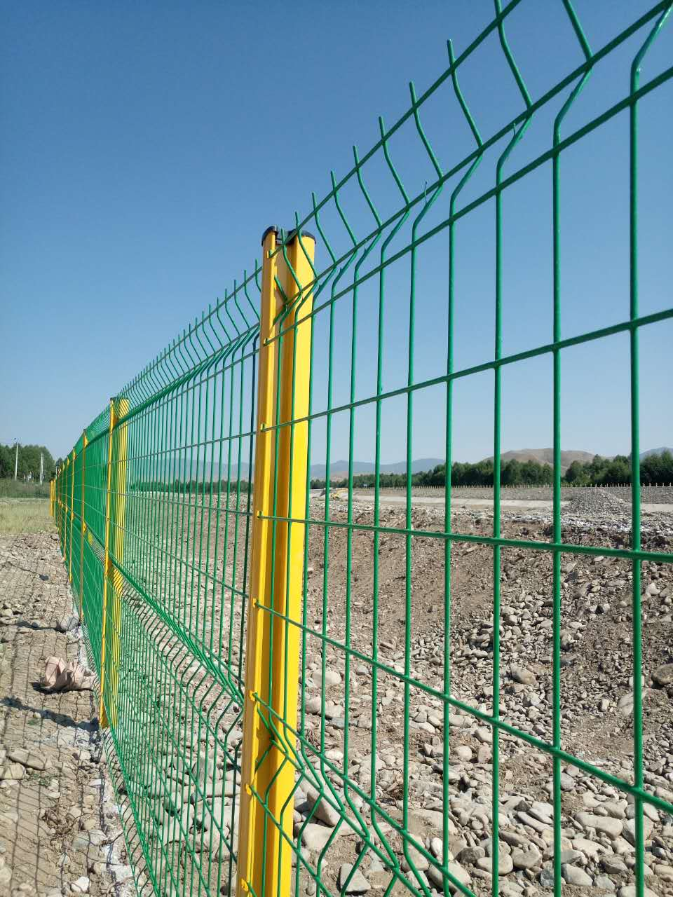 Fencing panel wire mesh on the Public places