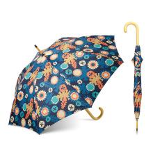 Parapluie d'impression de transfert de chaleur à double couche de marque de Topumbrella, logo fait sur commande de parapluie
