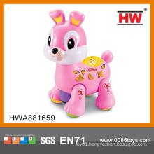 Funny plastic b/o animal music electronic rabbit toy