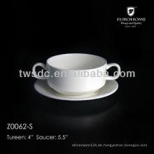 weiße Porzellan Teller /Double Goldfaden Porzellan 3.5 Schale
