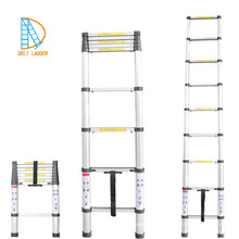 aluminium telescopic ladder 8 steps 2.6m with EN131-6