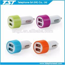 TST teléfono móvil cargador de coche dual usb