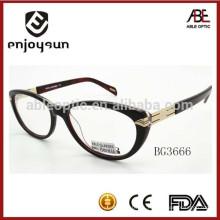 Marco de gafas de las gafas de acetato de la señora de la insignia de calidad superior