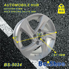 5h*114.3mm Aluminium Wheel Hub with Silver Surface