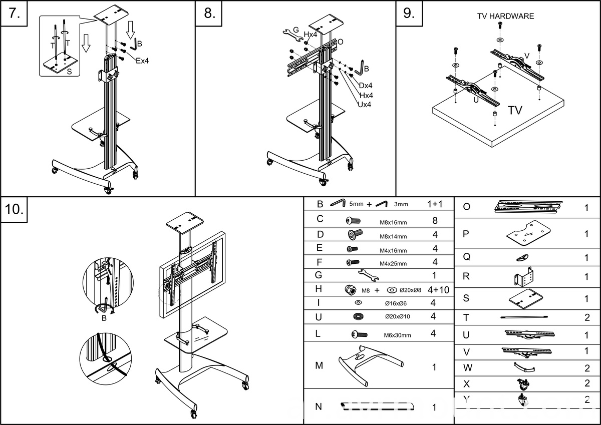 AVRT002 TV stand MANUAL 2