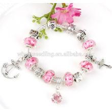Fashion girls bracelet DIY beads charm silver bracelet