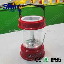 Plástico ABS / PC transparente CE / ROHS / IP65 llevó la linterna que acampa linterna solar roja