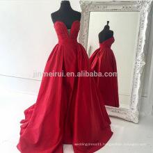 Vestidos De Baile Ball Gown Prom Dress Fast Shipping 2016 Sweetheart Backless Satin Long Evening Dress Wedding Guest Dresses