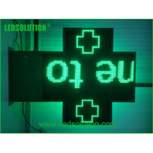 P20 Single Green LED Cross Sign