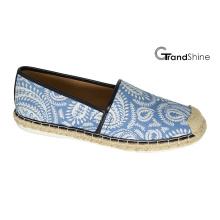 Frauen Casual Espadrille Bedruckte Stoff flache Schuhe
