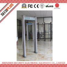 Plastic Material LCD display Waterproof 6 Zones Walk Through Metal Detector