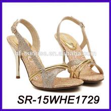 El alto talón atractivo de la manera calza los zapatos del alto talón del lápiz de los zapatos del alto talón del 15cm