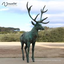 Park Decoration high quality popular design bronze deer sculpture for sale