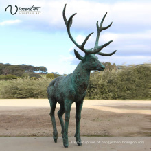 Escultura popular dos cervos do bronze do projeto da alta qualidade da decoração do parque para venda