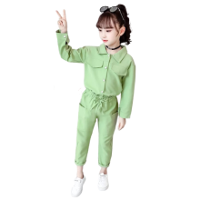 Girls Spring Autumn Solid Color Lovely Long-sleeved Suit