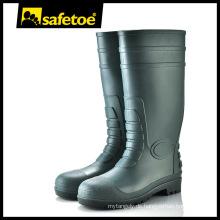 Stahl-Zehen-PVC-Sicherheits-Regenstiefel W-6038G