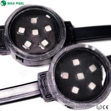 Instalação fixa de cabo de aço 6 leds ponto full color rgb string luz dc24v