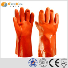 Pvc handschuhimporteure PVC beschichtete handschuhe chemikalienbeständige handschuhe