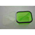 Dengan Lids Silicone Foldable Folding Food Lunch Box