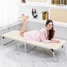 Cama popular dobrável e cama de solteiro de madeira maciça