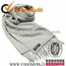bufanda de cachemira de color gris de moda