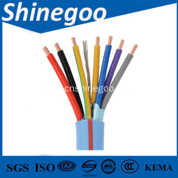 Copper Conductor PVC insulated PVC sheathed copper wire braided multicore control cable
