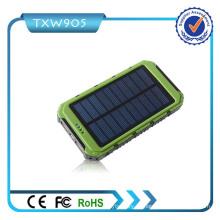 2016 Cargador solar portable de alta calidad de la energía solar del banco 10000mAh para todas las clases de teléfono móvil