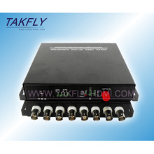 8 Channel Fiber Optic Digital Video Converter/Transceiver