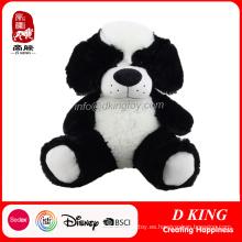 Perro de peluche de peluche suave relleno personalizado sentado para niños