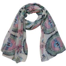 Мода 100% полиэфира Маркизета печатных шарф (YKY4221)