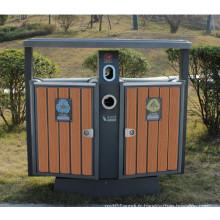 2014 Hot Sale Cheap Outdoor Environment WPC Trash Bin