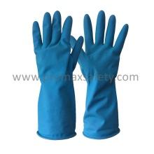 Blauer Haushalt Latex Handschuh mit Ce Zertifikat