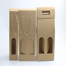 wine packaging with window and handle
