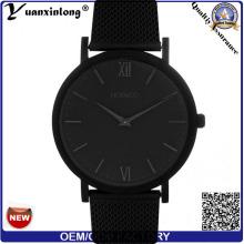 Новые люди прибытия рекламных кварц YXL-372 часы из нержавеющей стали случае Dw Стиль наручные часы черный циферблат леди смотреть кожкомбинате
