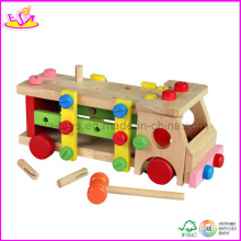 Wooden Hand Held Car Toy, with Removable Wood Screws (W11G009)