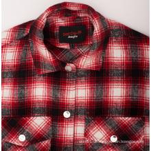 Großhandel Stretch Plaid Flanell Mode Herren Custom Shirt