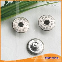 Bouton métallique, boutons Jean personnalisés BM1361