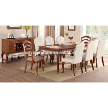 Antique style wooden dining table and chair set XYN1500