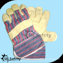 SRSAFETY Factory sale cheap price,pig split leather gloves