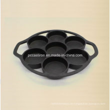7PCS Preseasoned Gusseisen-Kuchen-Form-China-Fabrik