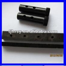 Módulo 1 engranaje y cremallera con óxido negro