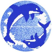 Mosaïque de verre Design de motif Mosaïque de piscine (HSP322)