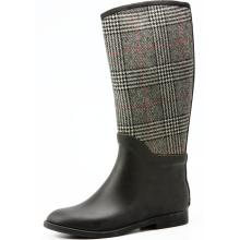 Серая шерстяная ткань, резиновые дождя сапоги для верховой езды