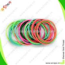 3 мм круглый красочные полиэстер резинка для волос украшения