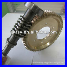 Worm gears and shafts