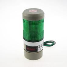 LED verde señal de advertencia de la lámpara, torre industrial de luz