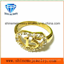 316L Stainless Steel with CZ Fashion Jewelry Ring (SCR2958)