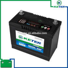 Keter self maintenance battery DIN55 SMF 12V55AH 12v smf battery
