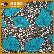 flower printed 100 polyester interlock fabric for clothing flower printing polyester spandex fabric for dress